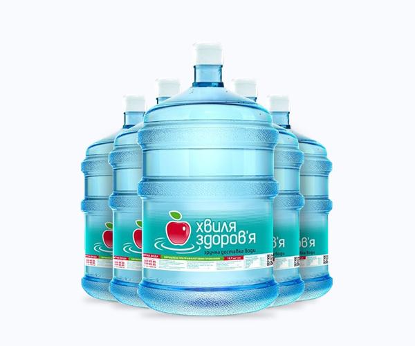 Бутилированная вода по 5 бутлей